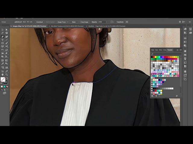Dessin femme avocate