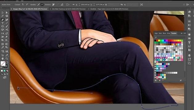 Dessin homme en costume avec une cravate (2)
