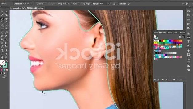 dessin femme de profil sur son ordinateur (2)