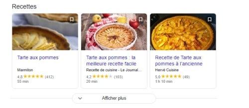 Resultat recherche recettes tarte aux pommes