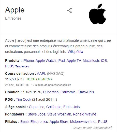 Apple entreprise