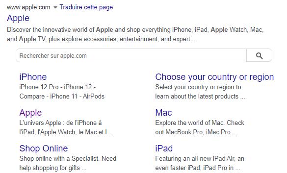 Resultat de recherche apple