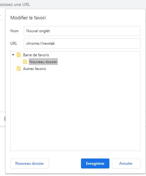 Enregistrer des favoris sur Chrome
