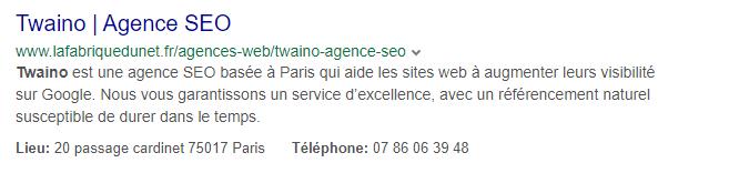 Yahoo Twaino agence seo