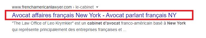Avocat affaires francais new york