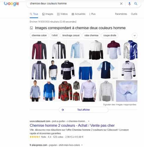 chemise deux couleurs homme