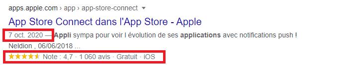 App store connect dans l apple store