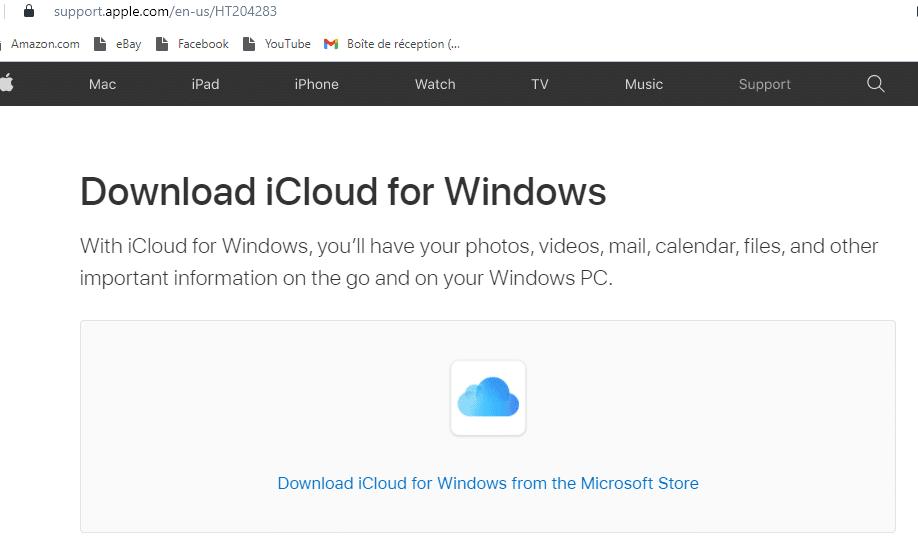 Synchronisation des favoris sur Windows