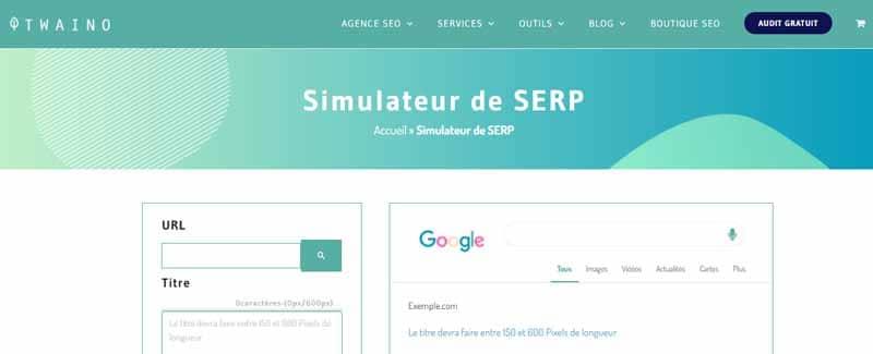 Simulateur SERP