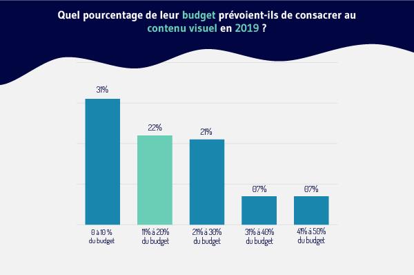 Quel-pourcentage-de-leur-budget-prevoient ils -depenser-sur-le-contenu-visuel-en-2019