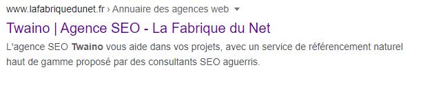Google Twaino agence seo la fabique du net