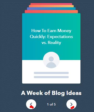 A week of Blog Ideas