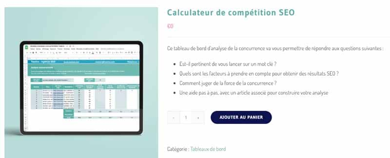 Calculateur de competition SEO