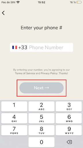 Enter your phone