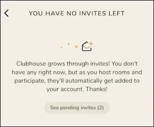 You have no invites left