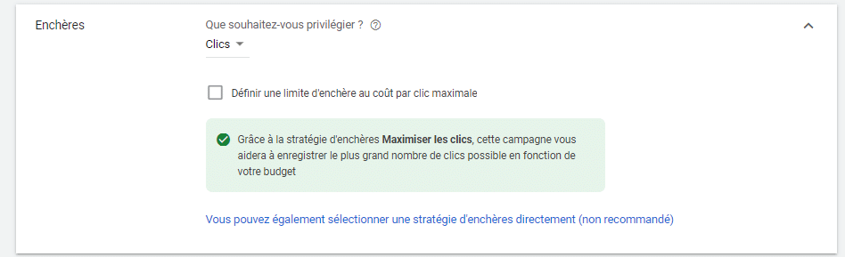 Strategie d encheres