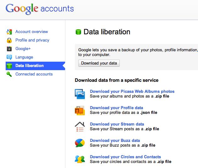Data liberation