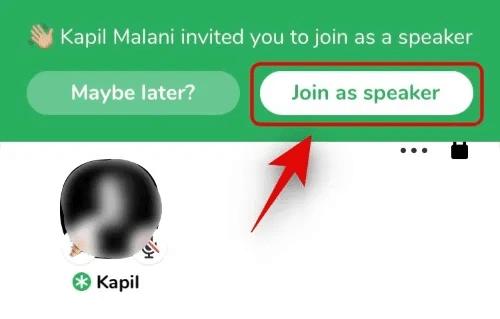 Join as speaker