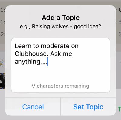 Add a topic