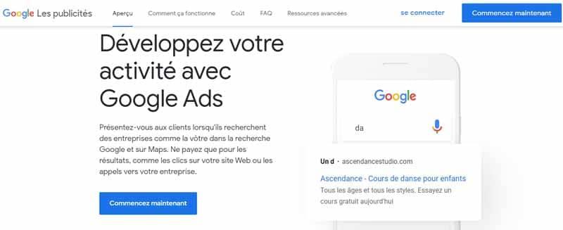 Developpez votre activite avec Google Ads