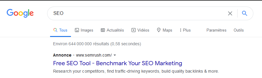 Free SEO Tool - Benchmark Your SEO Marketing