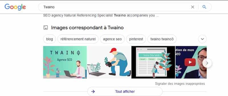 Images correspondantes a Twaino