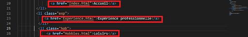Insertion lien interne page web