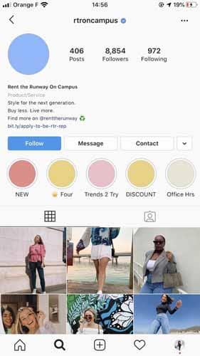 Promotion du lien daffiliation Instagram