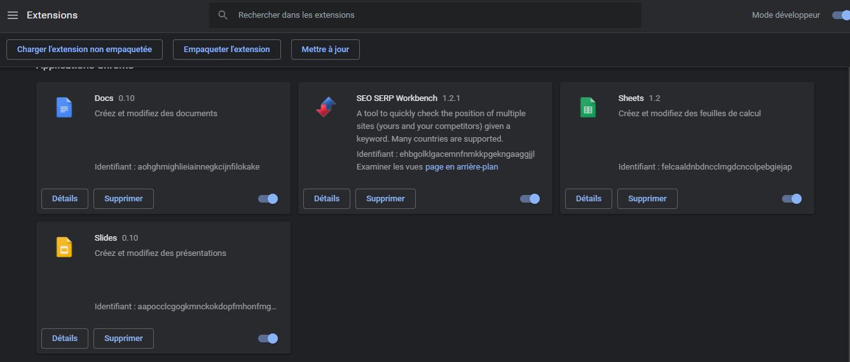 extensions modules et plugins