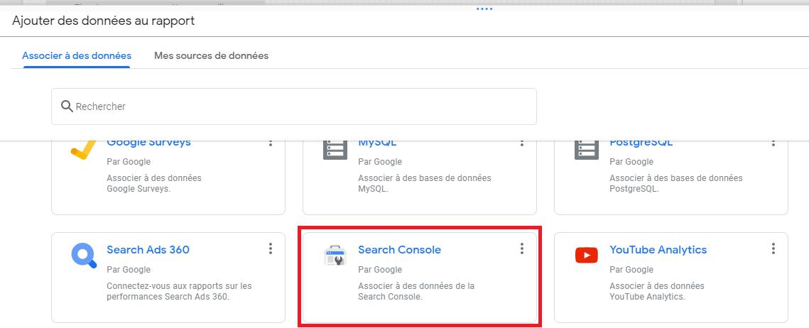 connecteur Google Search Console