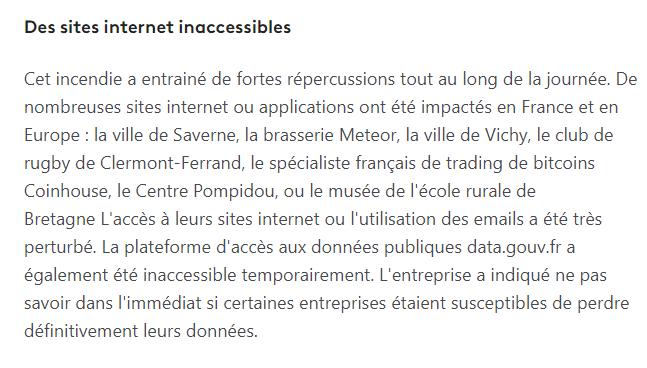 Des sites internet inaccessibles