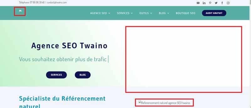 Version temporaire du site Twaino