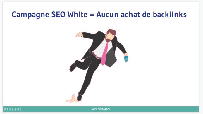 Campagne SEO White Aucun achat de backlnks