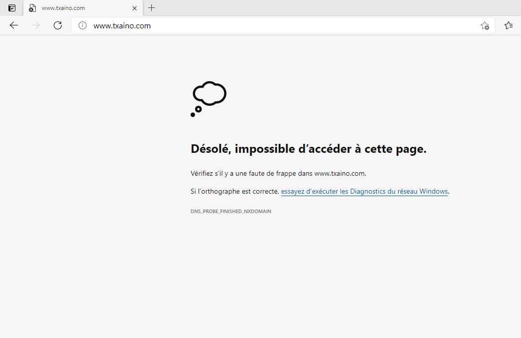 Desole impossible d acceder a cette page
