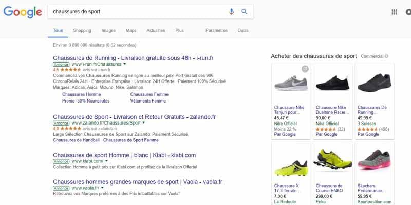 Recherche chaussures de sport