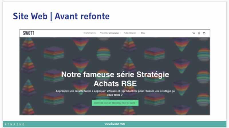 Site web avant refonte