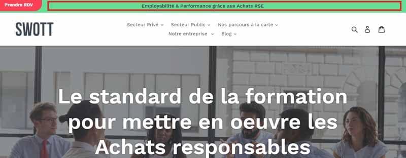 Banniere avec la mention Employabilite et Performance grace aux Achats RSE