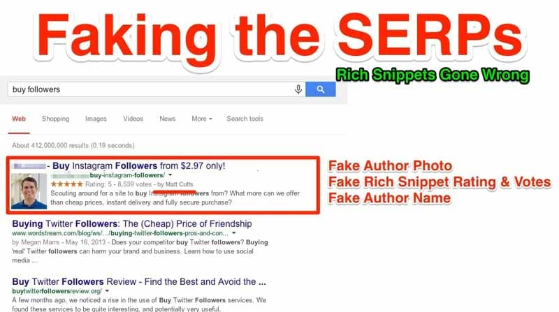 Faking the SERPs