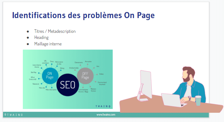 Identiification des problemes on page