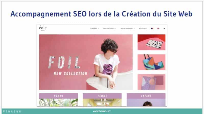 Accompagnement SEO lors de la Creation du Site Web