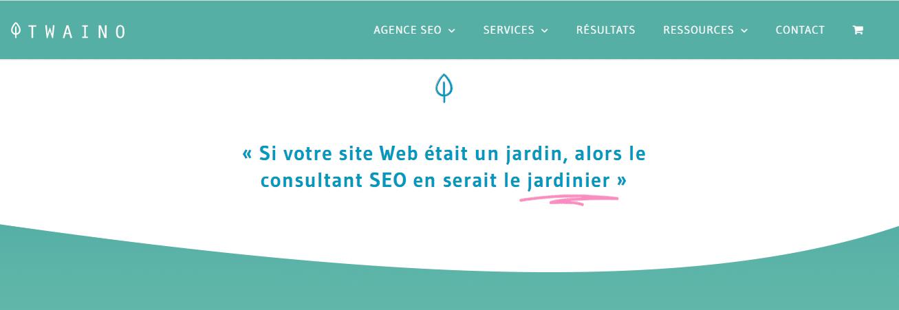 Citation si votre site web etait un jardin