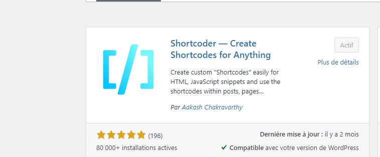 plugin Shortcoder