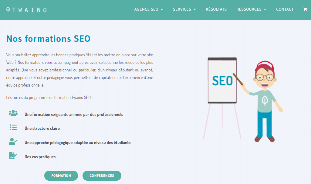 Nos formations seo