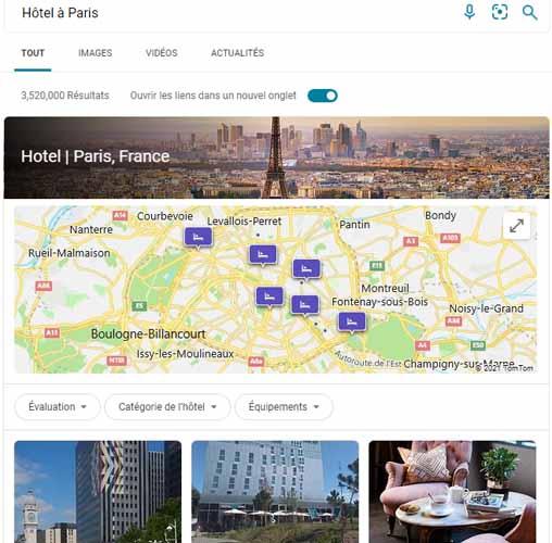 Recherche hotel a paris