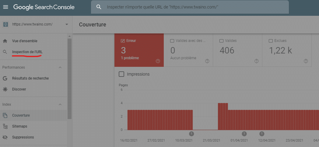 Inspection d URL