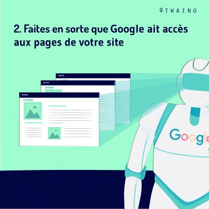 Action manuelle part 4-06 Google ait acces aux pages de votre site