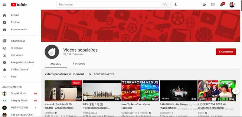 Videos populaires