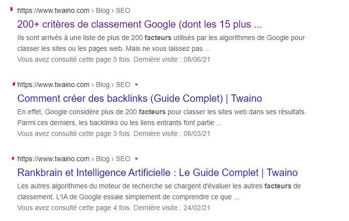 Resultat recherche google Articles twaino