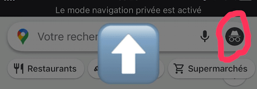 Icone navigation privee