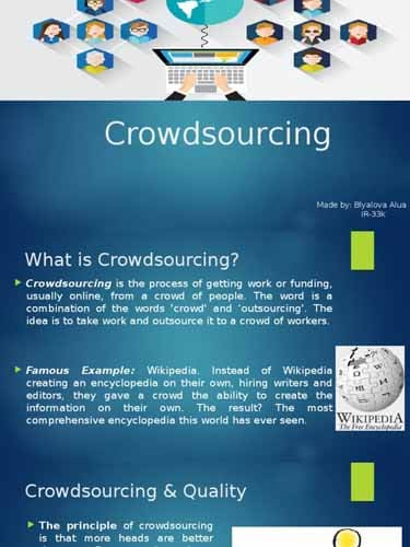 Qu est ce que le Crowdsourcing